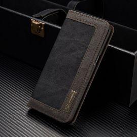 Луксозен калъф от кожа и плат CaseMe за Samsung Galaxy S8+ Plus