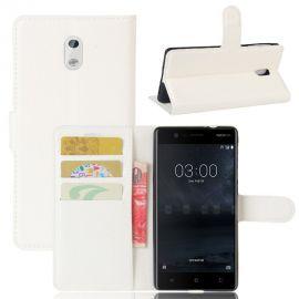Кожен калъф хоризонтален тефтер за Nokia 3
