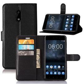 Кожен калъф хоризонтален тефтер за Nokia 6