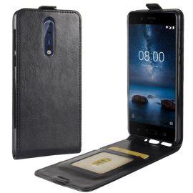 Кожен калъф вертикален флип за Nokia 8