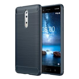 Силикон гръб Carbon за Nokia 8