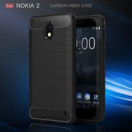 Силикон гръб Carbon за Nokia 2