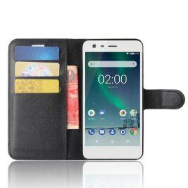 Кожен калъф хоризонтален тефтер за Nokia 2