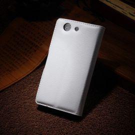 Елегантен кожен калъф флип за Sony Xperia Z3 Compact