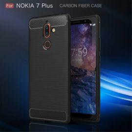 Силикон гръб Carbon за Nokia 7 Plus