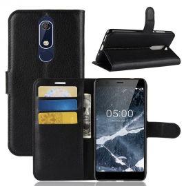 Кожен калъф хоризонтален тефтер за Nokia 5.1 2018