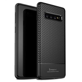 Силиконов карбонов гръб за Samsung Galaxy S10+ Plus G975