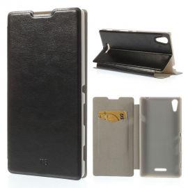 Кожен калъф хоризонтален тефтер за Sony Xperia T3