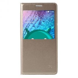 Кожен калъф с прозорец за Samsung Galaxy J5