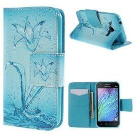 Кожен калъф с картинки за Samsung Galaxy J1