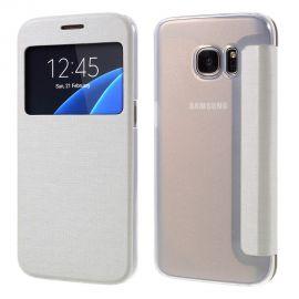 Кожен калъф с прозорец за Samsung Galaxy S7 G930