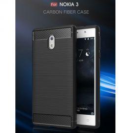 Силикон гръб Carbon за Nokia 3
