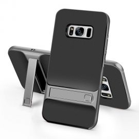 Хибриден PC гръб с kick-stand стойка за Samsung Galaxy S8+ Plus