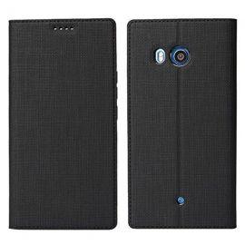 Луксозен хоризонтален кожен калъф за HTC U11
