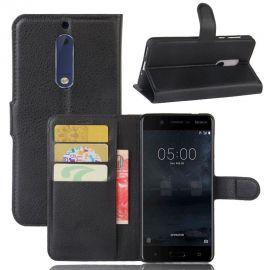 Кожен калъф хоризонтален тефтер за Nokia 5
