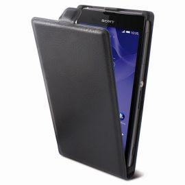 Кожен калъф вертикален тефтер за Sony Xperia Z3 Compact