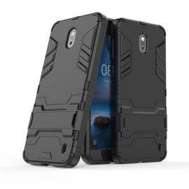 Хибриден PC гръб с kick-stand стойка за Nokia 2