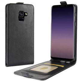 Кожен калъф вертикален тефтер за Samsung Galaxy A8+ Plus 2018 A730