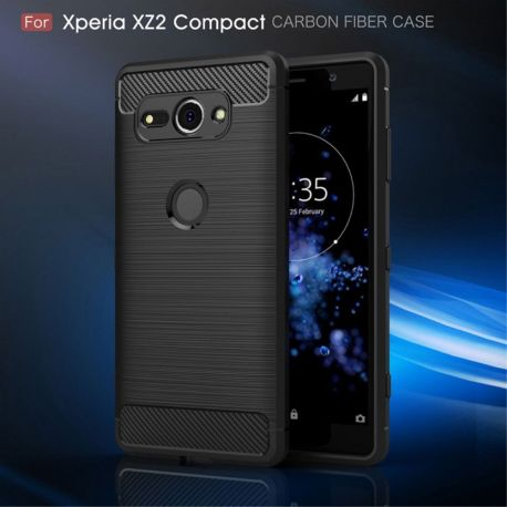 Силикон гръб Carbon за Sony Xperia XZ2 Compact
