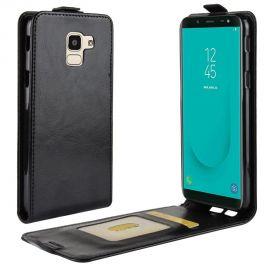 Кожен калъф вертикален флип за Samsung Galaxy J6