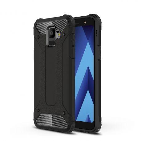 Противоударен калъф Metal Carbon за Samsung Galaxy A6 2018