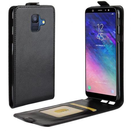 Кожен калъф вертикален тефтер за Samsung Galaxy A6 2018