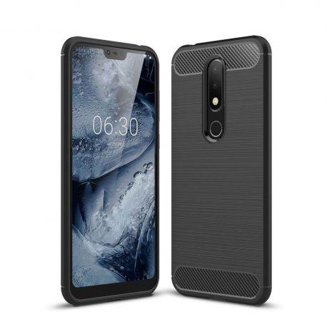 Силикон гръб Carbon за Nokia 6.1 Plus (2018)