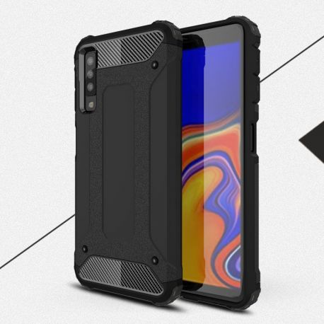 Противоударен калъф Metal Carbon за Samsung Galaxy A7 2018
