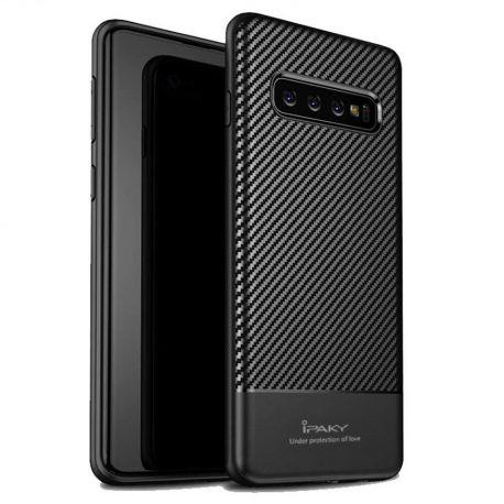 Силиконов карбонов гръб за Samsung Galaxy S10+ Plus G975