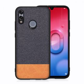 Елегантен калъф от плат и кожа за Huawei P Smart 2019