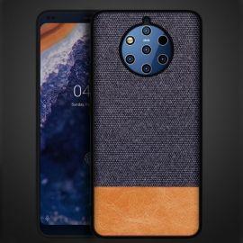 Елегантен калъф от плат и кожа за Nokia 9 PureView