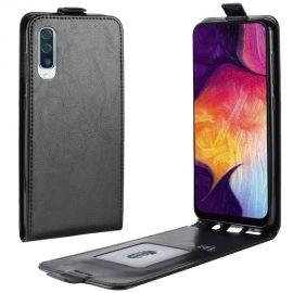 Кожен калъф вертикален флип за Samsung Galaxy A50