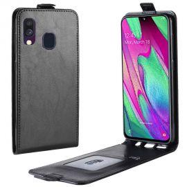 Кожен калъф вертикален флип за Samsung Galaxy A40