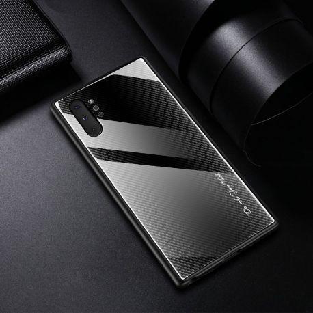 Стъклен кейс със силиконова рамка за Samsung Galaxy Note 10+ Plus