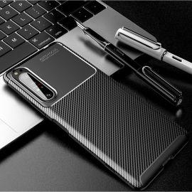 Силиконов карбонов гръб за Sony Xperia 1 II