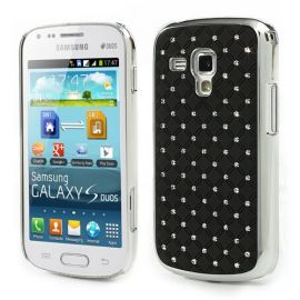Твърд гръб с камъни за Samsung Galaxy S Duos / Trend / Trend Plus