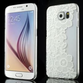 Прозрачен твърд гръб с каринка за Samsung Galaxy S6 G920