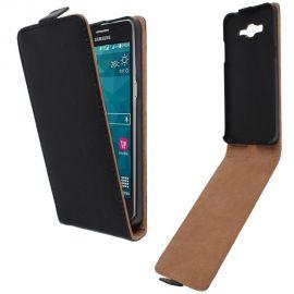 Кожен калъф вертикален флип за Samsung Galaxy J1